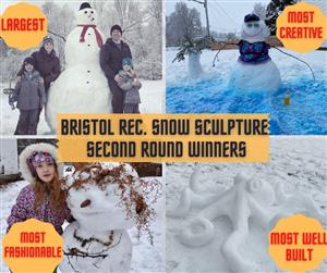 snow sculpture Building second round winners